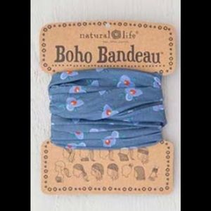 Natural Life Boho Headband Bandeau Blue